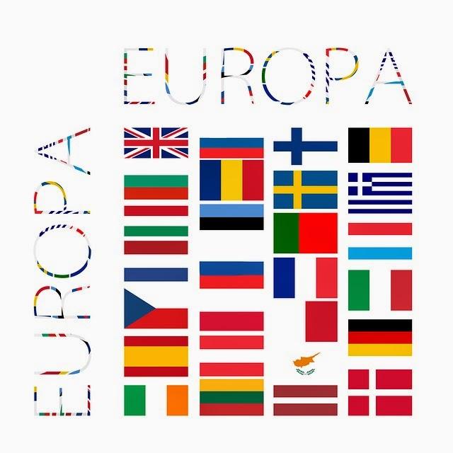 Banderas de pases europeos  Imagenes Sin Copyright