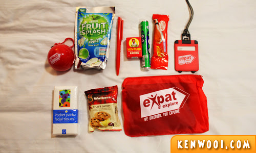 expat explore goody bag