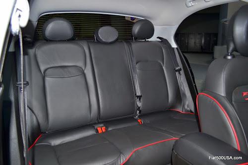 Fiat 500X Rear Seat View