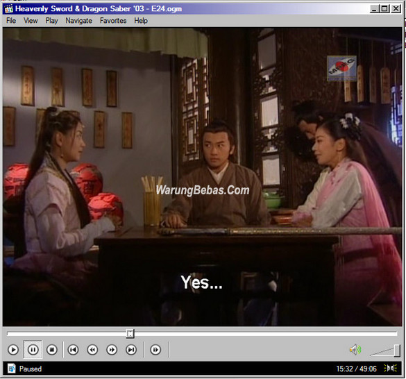 Heavenly Sword and Dragon Sabre 2003 Subtitle Option