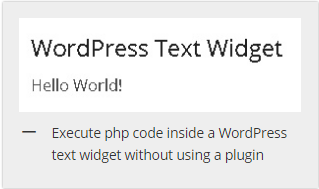 how to run php code in text widget without using plugin