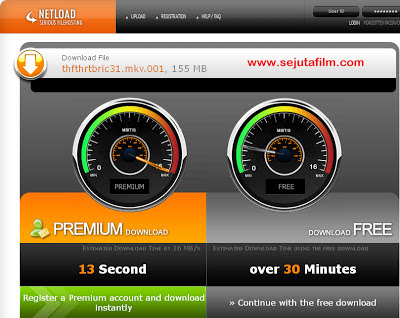 Cara Download di Netload  [NL]