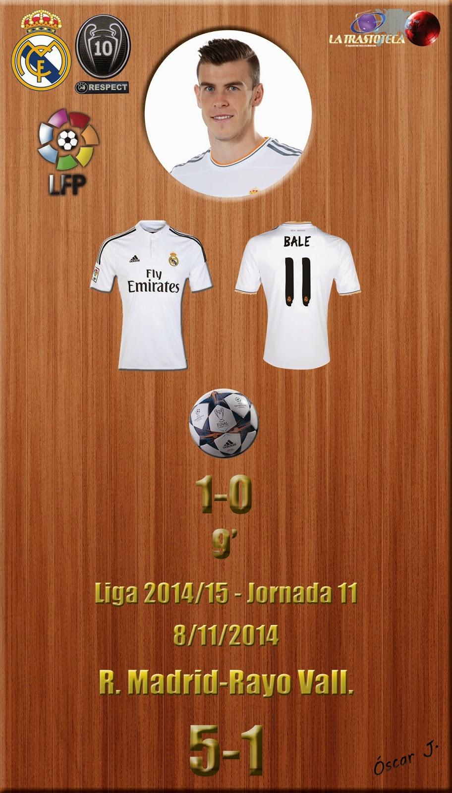 Bale - (1-0) - Real Madrid 5-1 Rayo - Liga 2014/15 - Jornada 11 - (8/11/2014)
