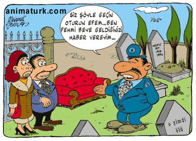 mezarlık karikatürü