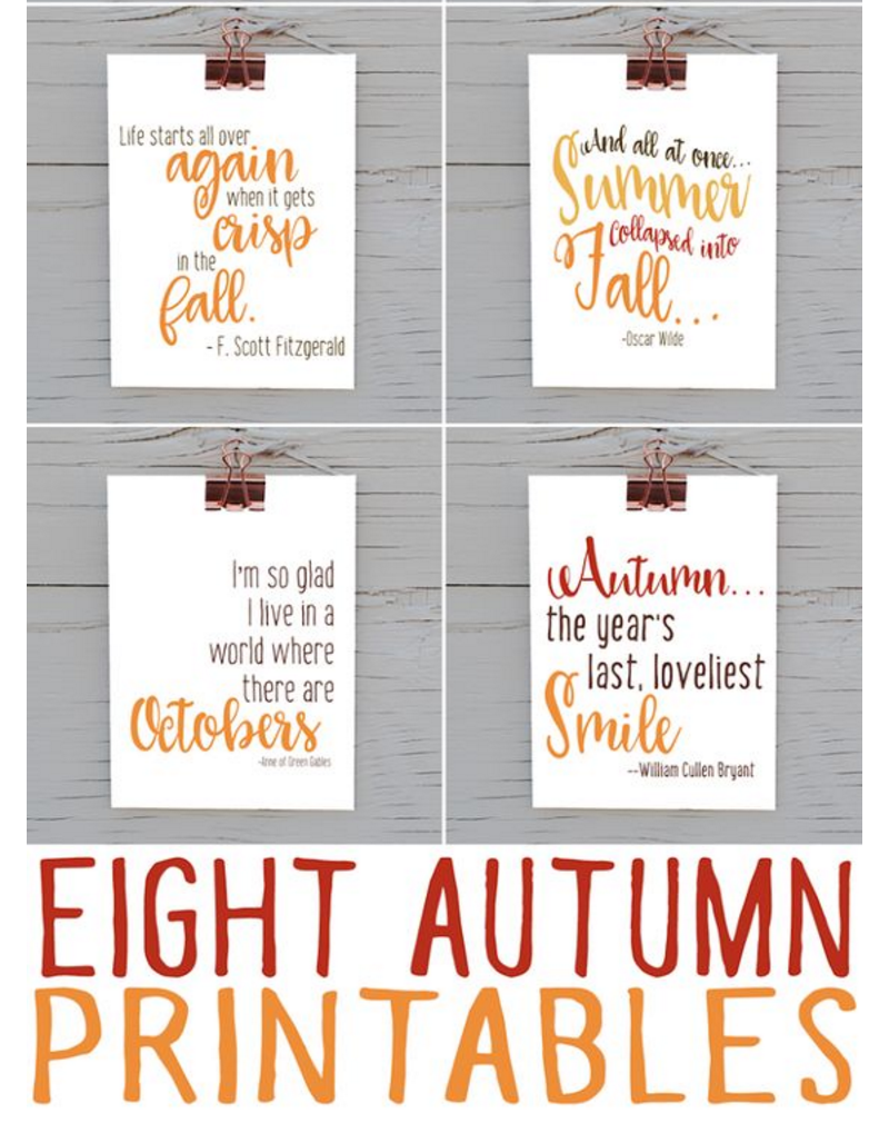 Grab My Latest Autumn Printable Bundle:
