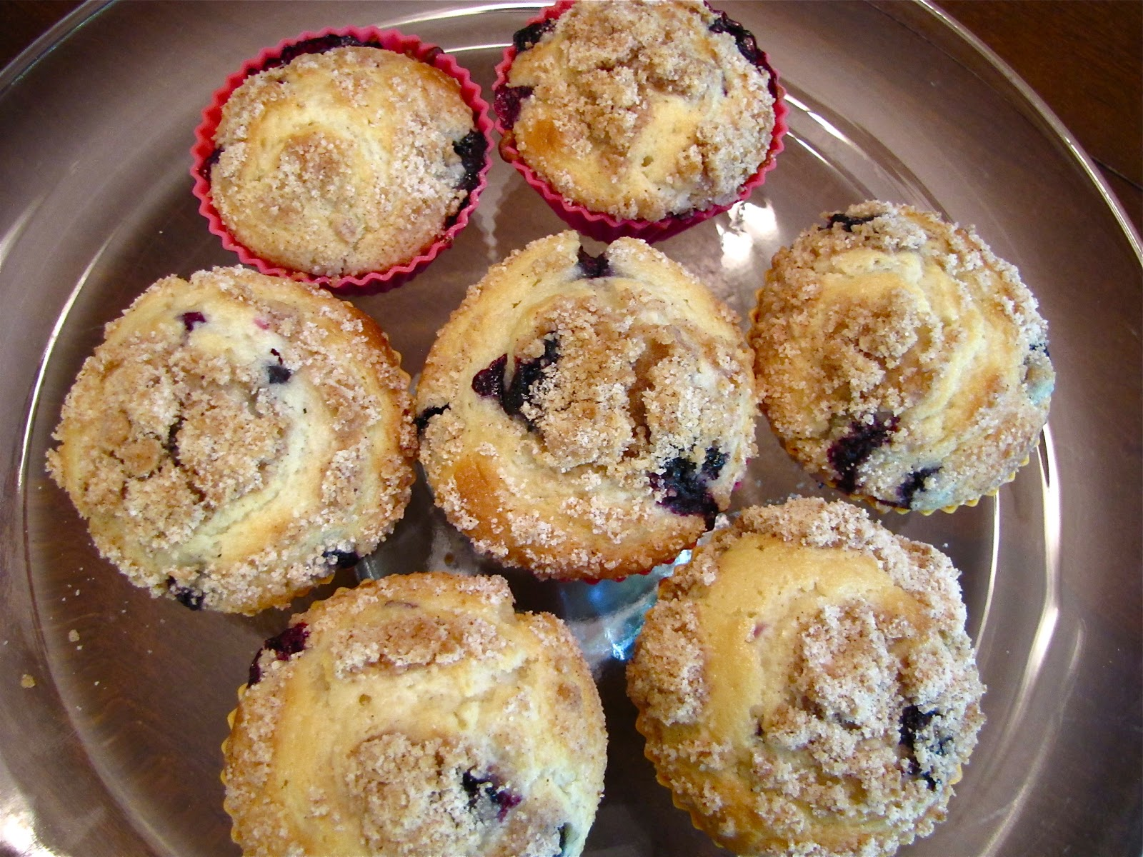 The Modest Homestead: Blueberry Sour Cream Muffins