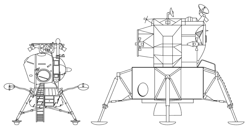 drawing apollo 11 moon lander - photo #10