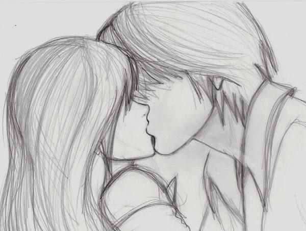 Рисовать любовь аниме карандашом для