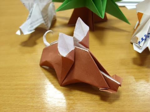 Оригами Дикий свин
