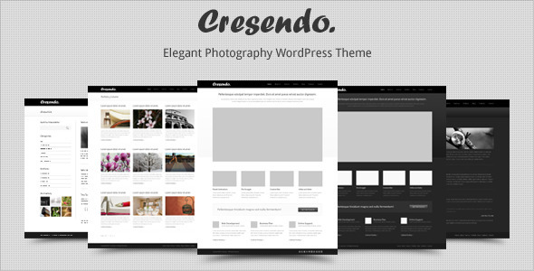 Cresendo - Elegant Photography WordPress Theme Free Download by ThemeForest.