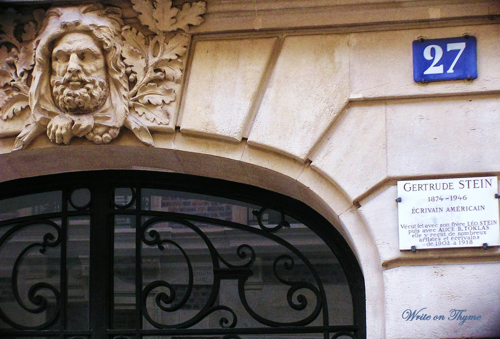 write on thyme the stein salon 27 rue de fleurus. Black Bedroom Furniture Sets. Home Design Ideas