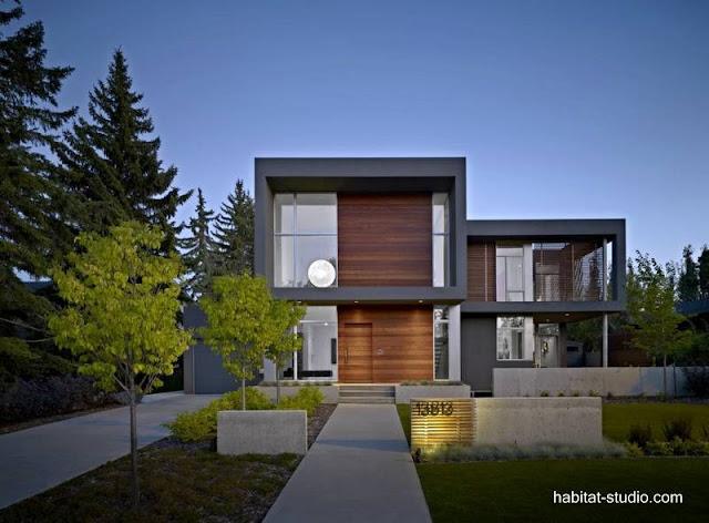 Casa residencial geométrica contemporánea en Canadá