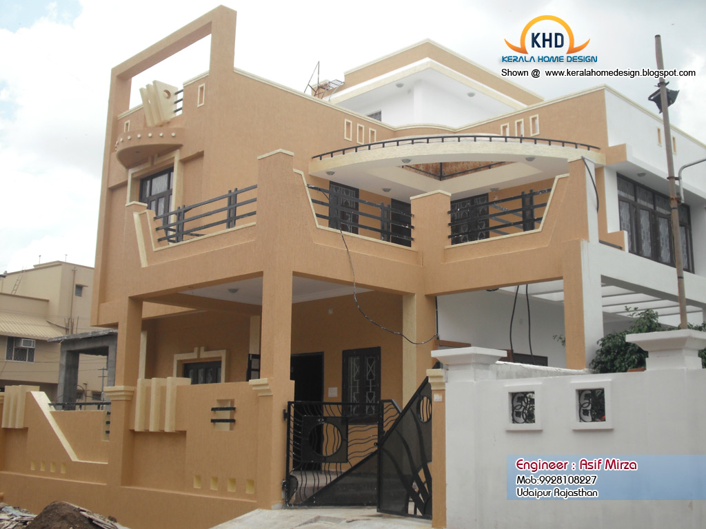 North indian home design elevation kerala home design Building plans indian homes