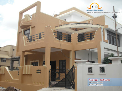 North Indian Home Design Elevation - Kerala home design and floor