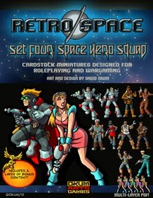 Retro Space Set Four Space Hero Squad