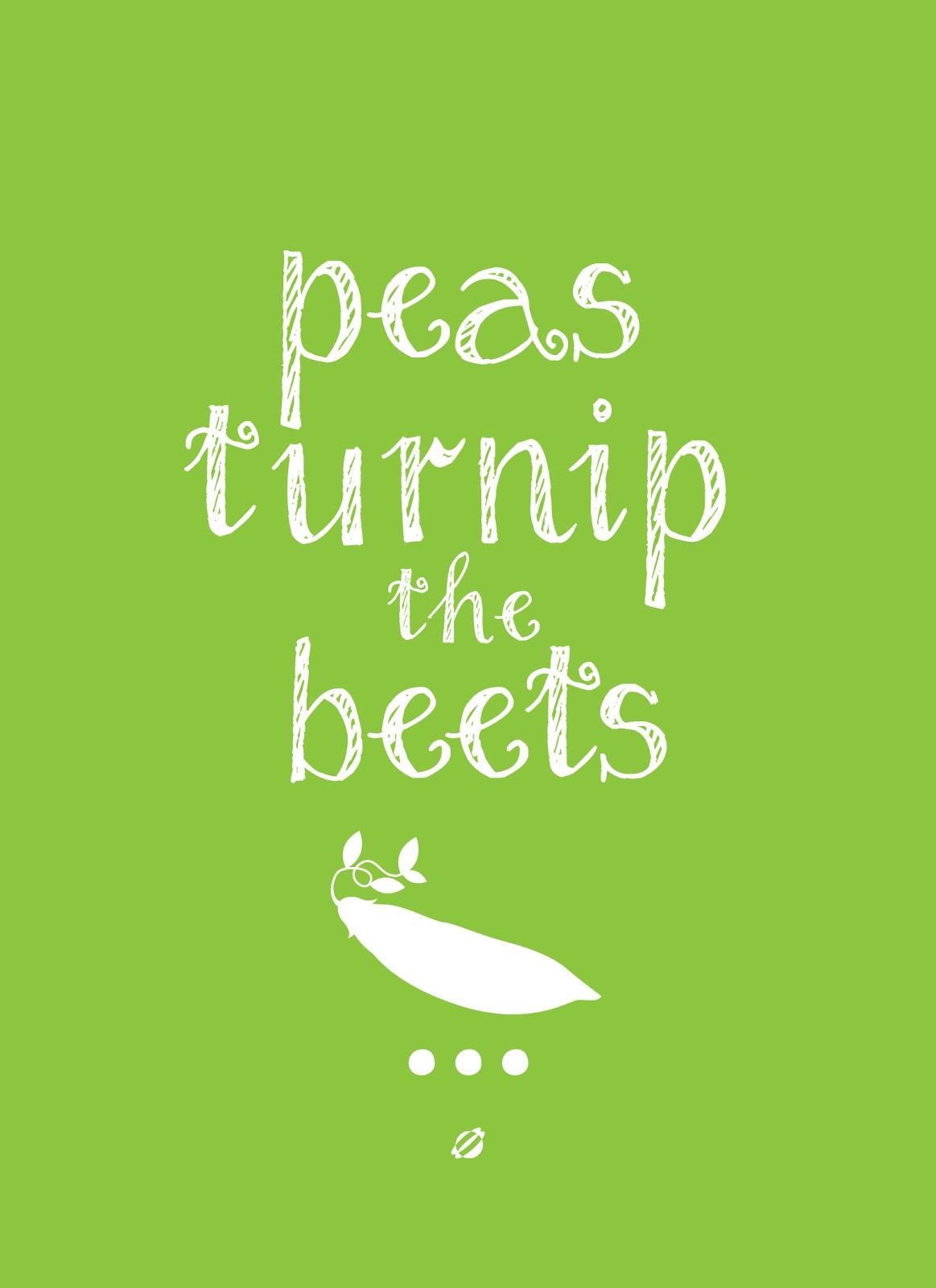 LostBumblebee ©2014 PEAS TURNIP THE BEETS FREE PRINTABLE