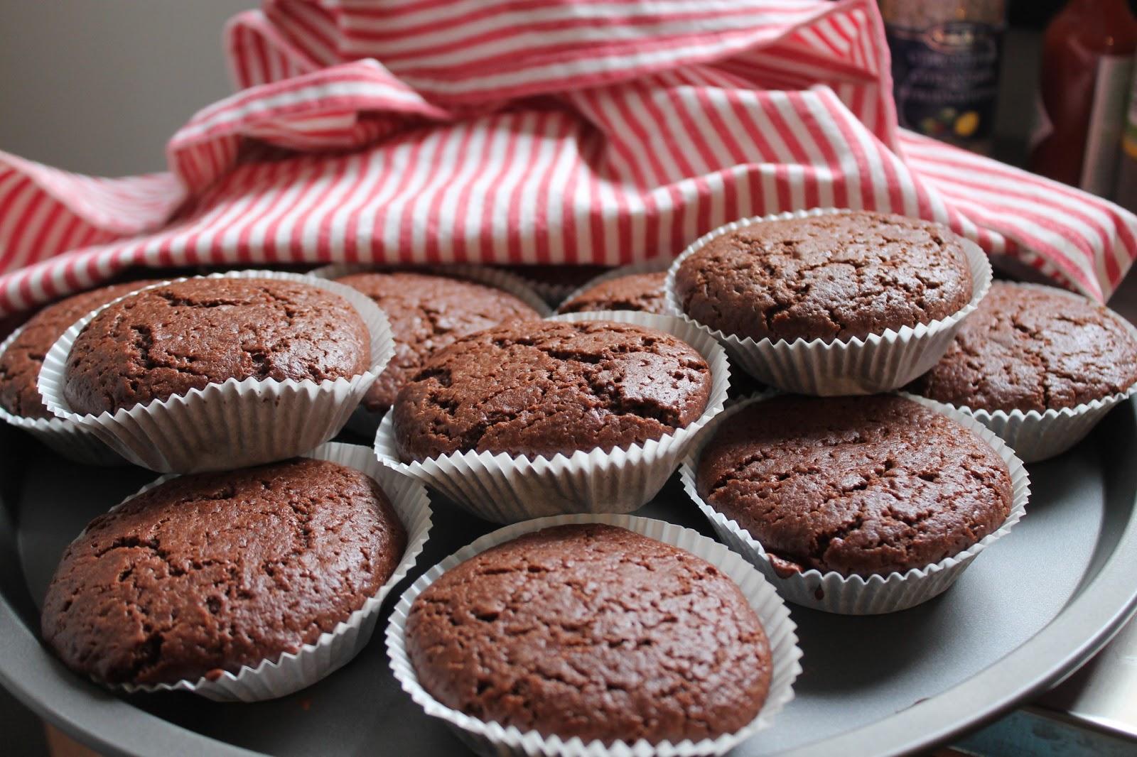 Muffins au chocolat et à la fleur d'oranger