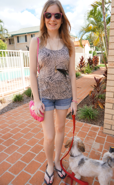 away from blue australian daily outfit blogger summer singlet and shorts