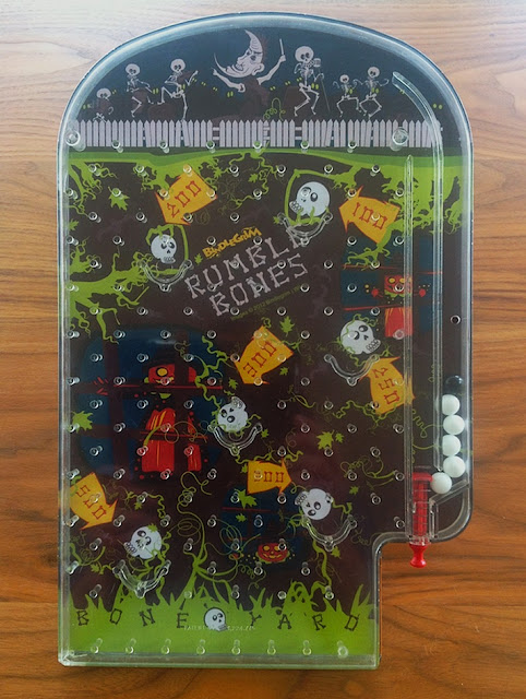 OOAK one-of-a-kind Halloween art bagatelle pinball game by holiday artist Bindlegrim