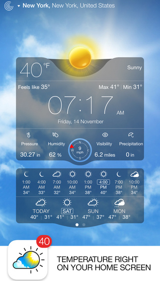 Live Weather iPhone