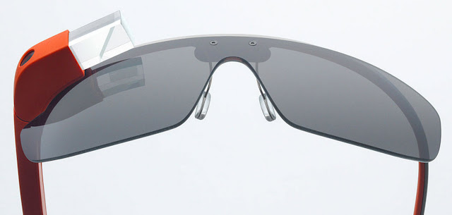 Google Glass with glasses