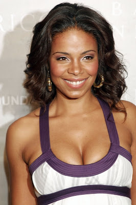 Sanaa Lathan Black Curly Hairstyles for Oval Faces