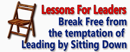 Break Free from the temptation of Leading by Sitting Down
