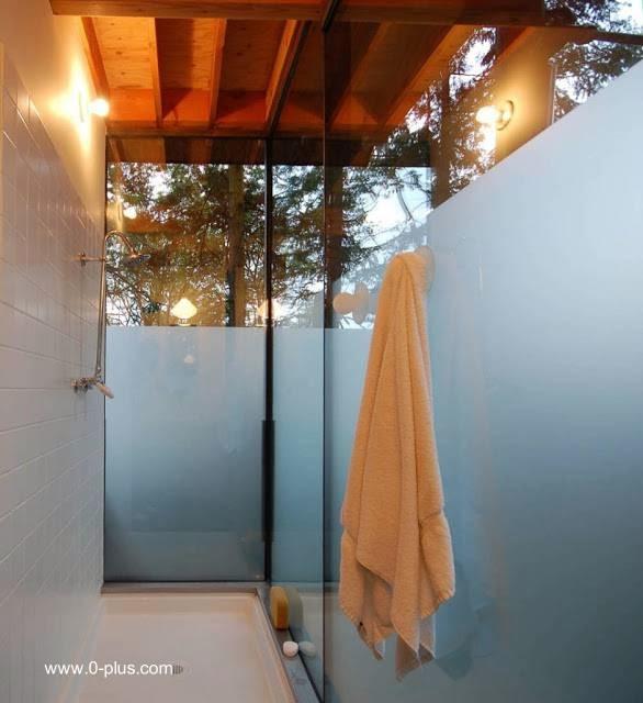 Baño de la cabaña ducha