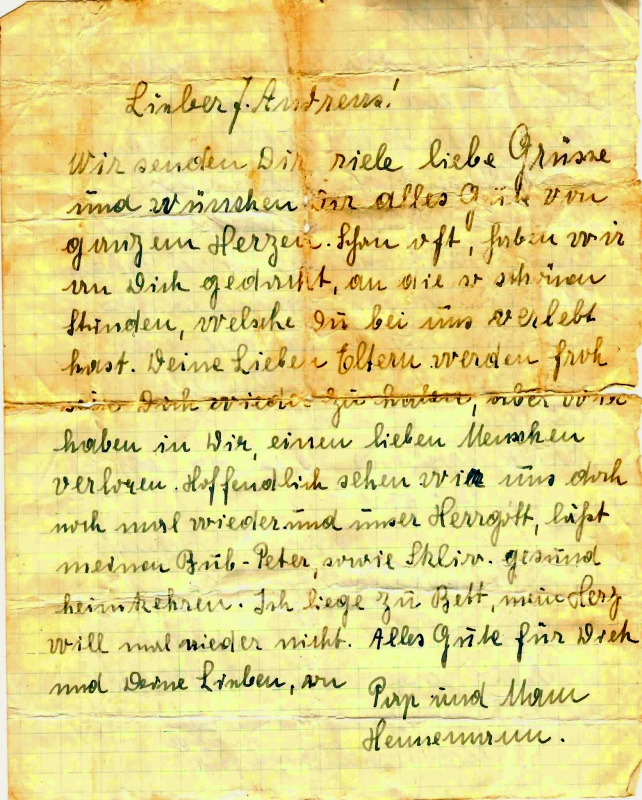 Amys family history amanuensis monday translation and a circa 1945 letter from granddaddys german host family kristyandbryce Images