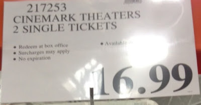 Deal for 2 Cinemark Movie Tickets at Costco