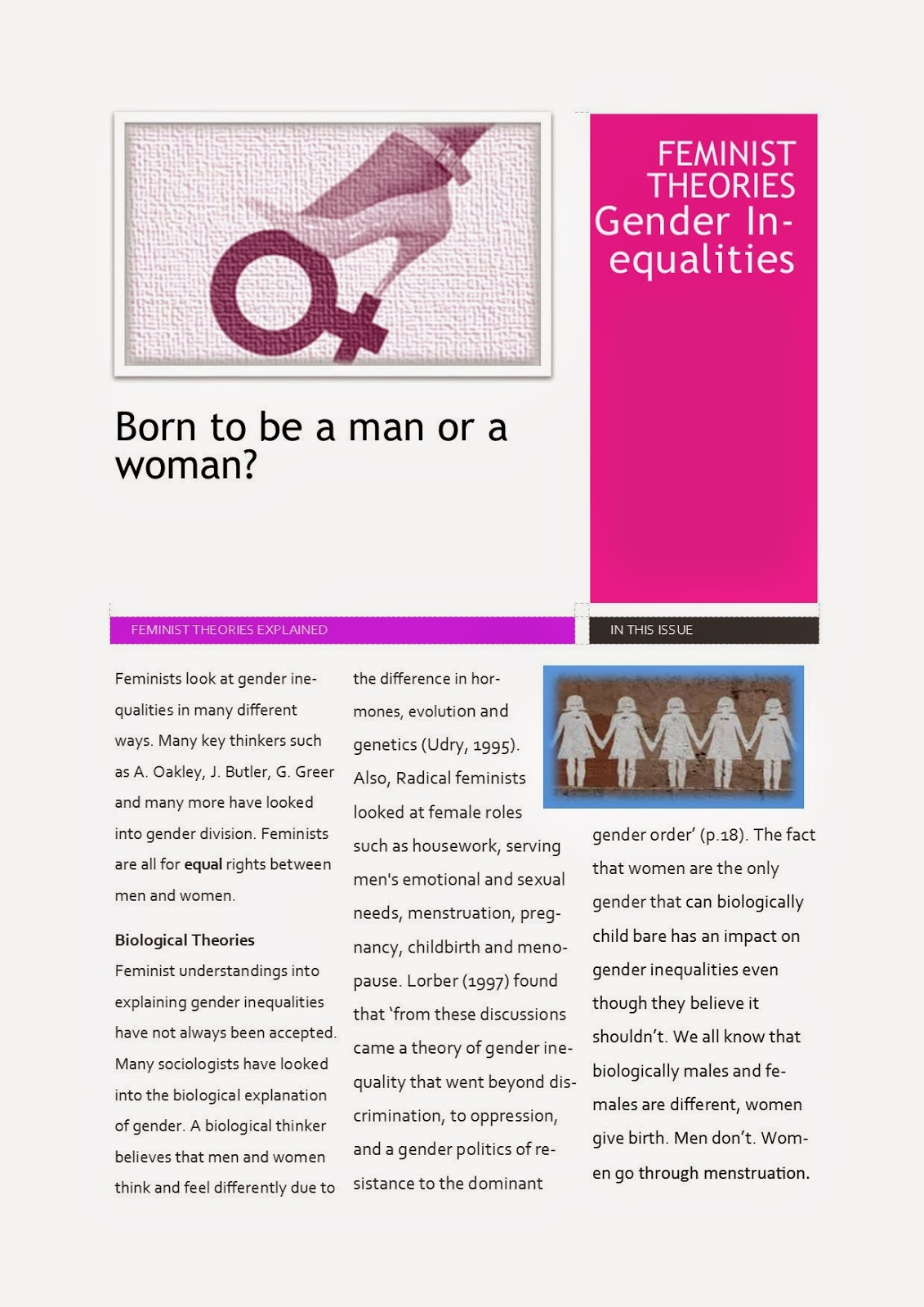 discuss biological explanations of gender development Extracts from this document introduction laura searle compare and contrast the biological and social learning theories of gender development gender can be explained by the biological and social learning theories.