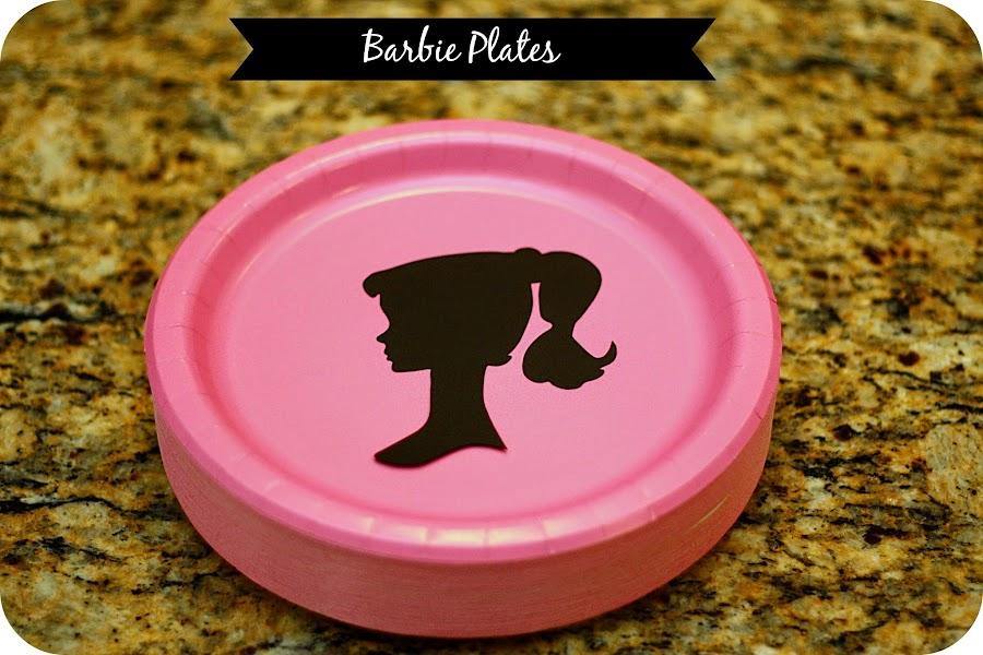 Silhouette Barbie Plates