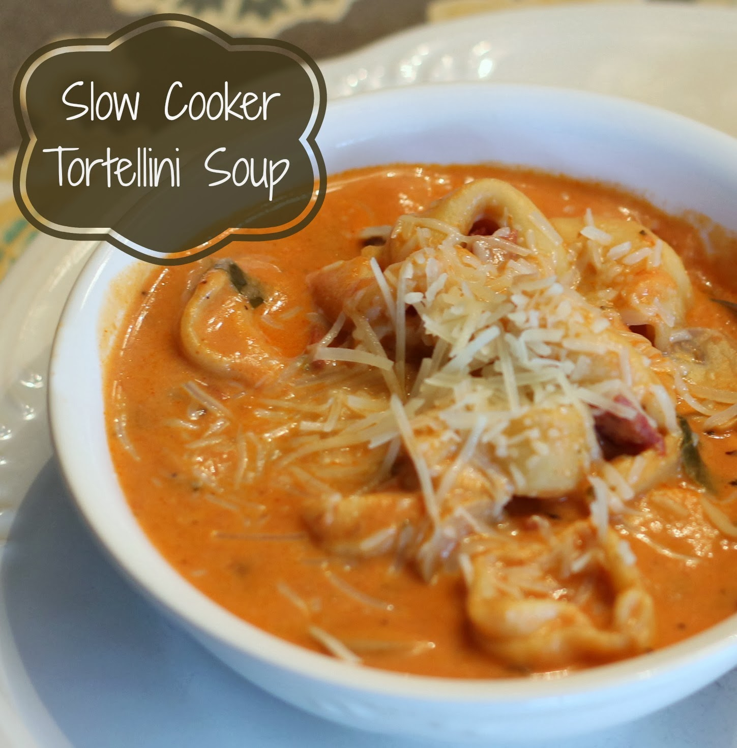 Slow Cooker Tortellini Soup is a quick, easy and hearty.
