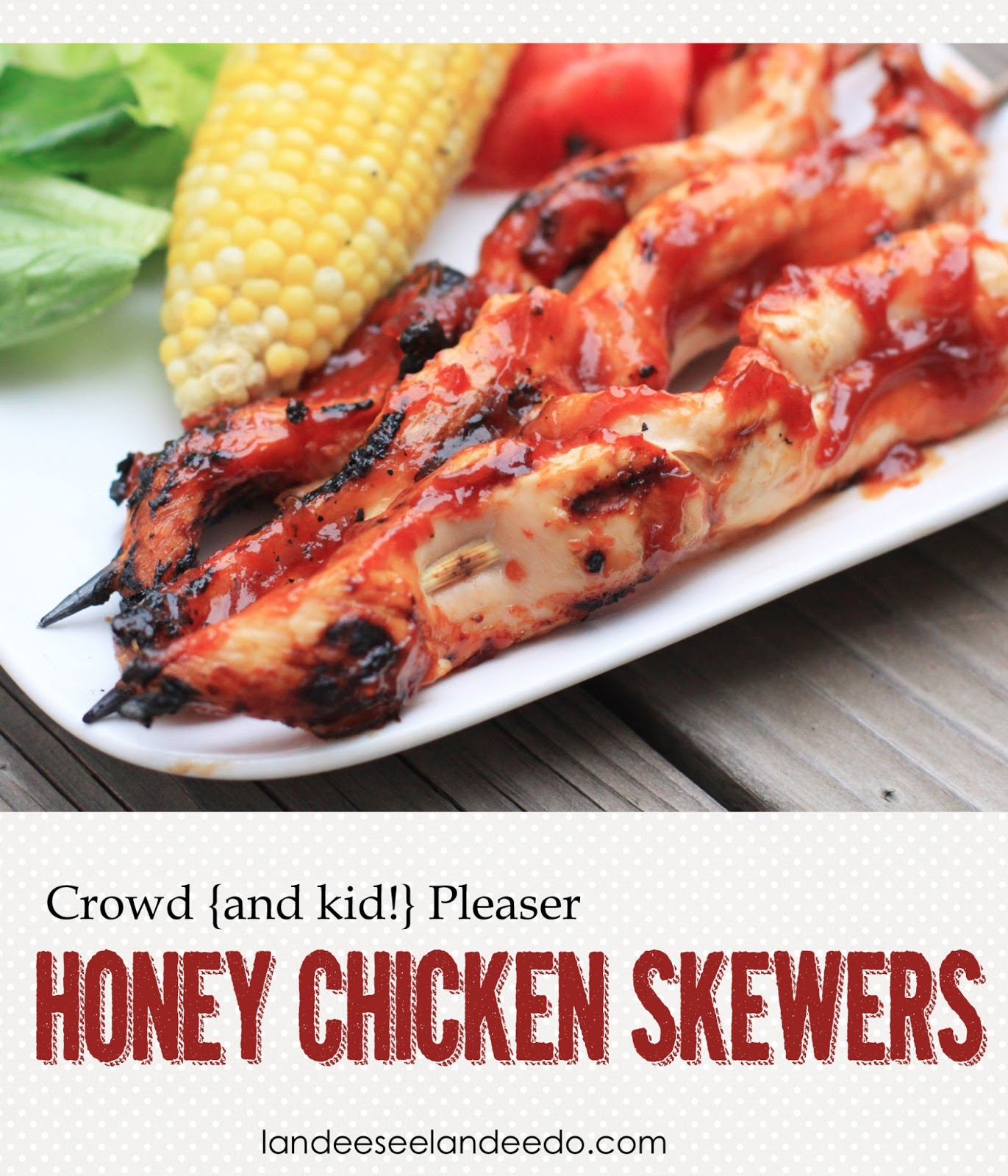 Crowd {and kid} Pleaser Honey Chicken Skewers {by Landee ...