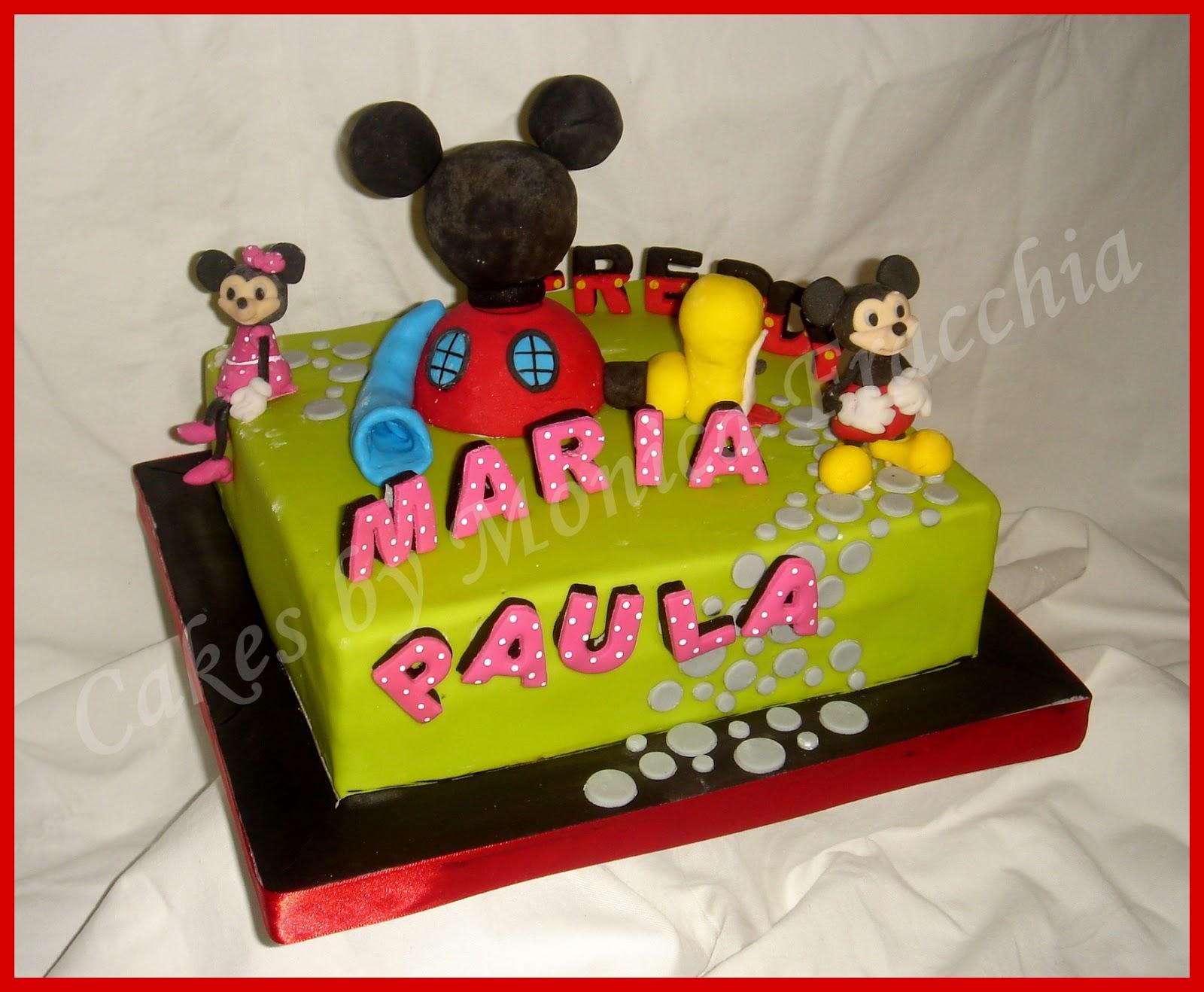 TORTA DECORADA CASA CLUB MICKEY MOUSE   TORTAS CAKES BY MONICA ...