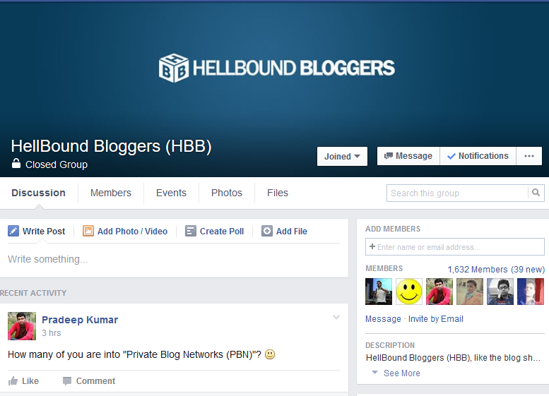 Hellboundbloggers Facebook group