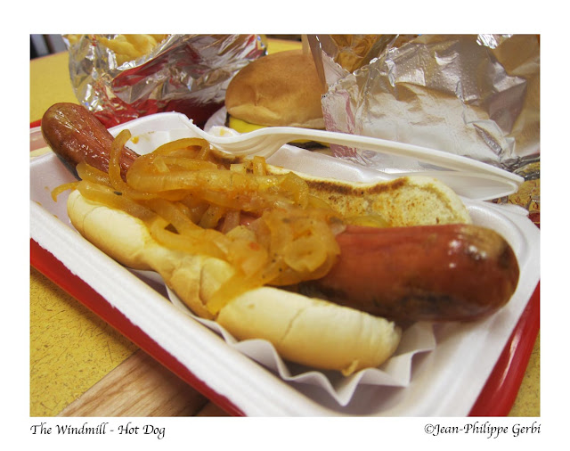 Image of Hot dog at The Windmill in Hoboken NJ, New Jersey