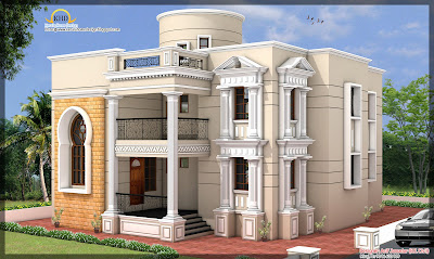 House Elevation - 3881 sq ft - Kerala home design and floor plans