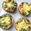 Creamy Spinach, Bacon and Feta Quiche Cups
