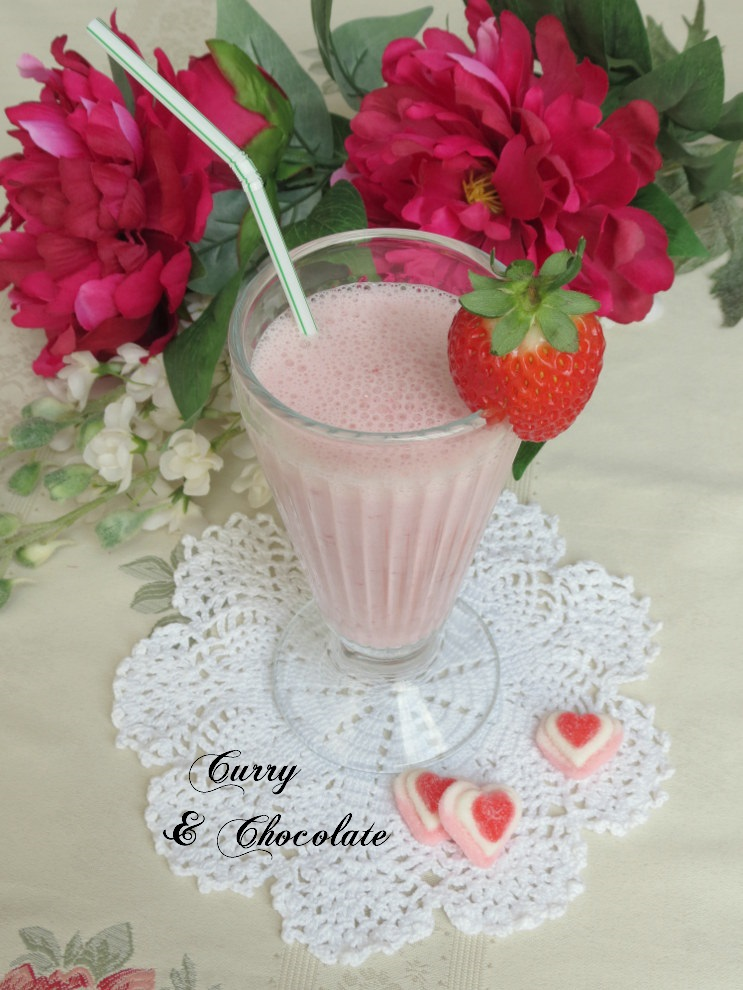 Batido de fresas – Strawberry smoothie