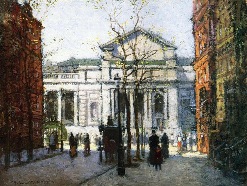 Paul Cornoyer- 保羅Cornoyer美國印象派畫家,塗在陽光下,霧和雪的街道場景; 在日出和日落。(1864年至1923年) 。。。 - milk  - ☆ Milk ☆ 平平。淡淡。也是真。