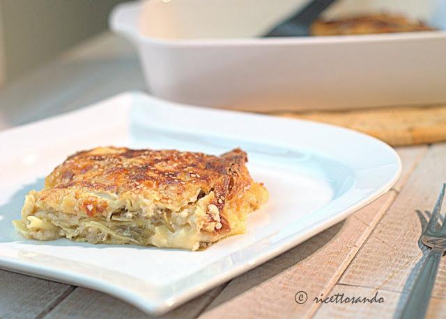Lasagne vegetariane ai carciofi e provola ricetta classica