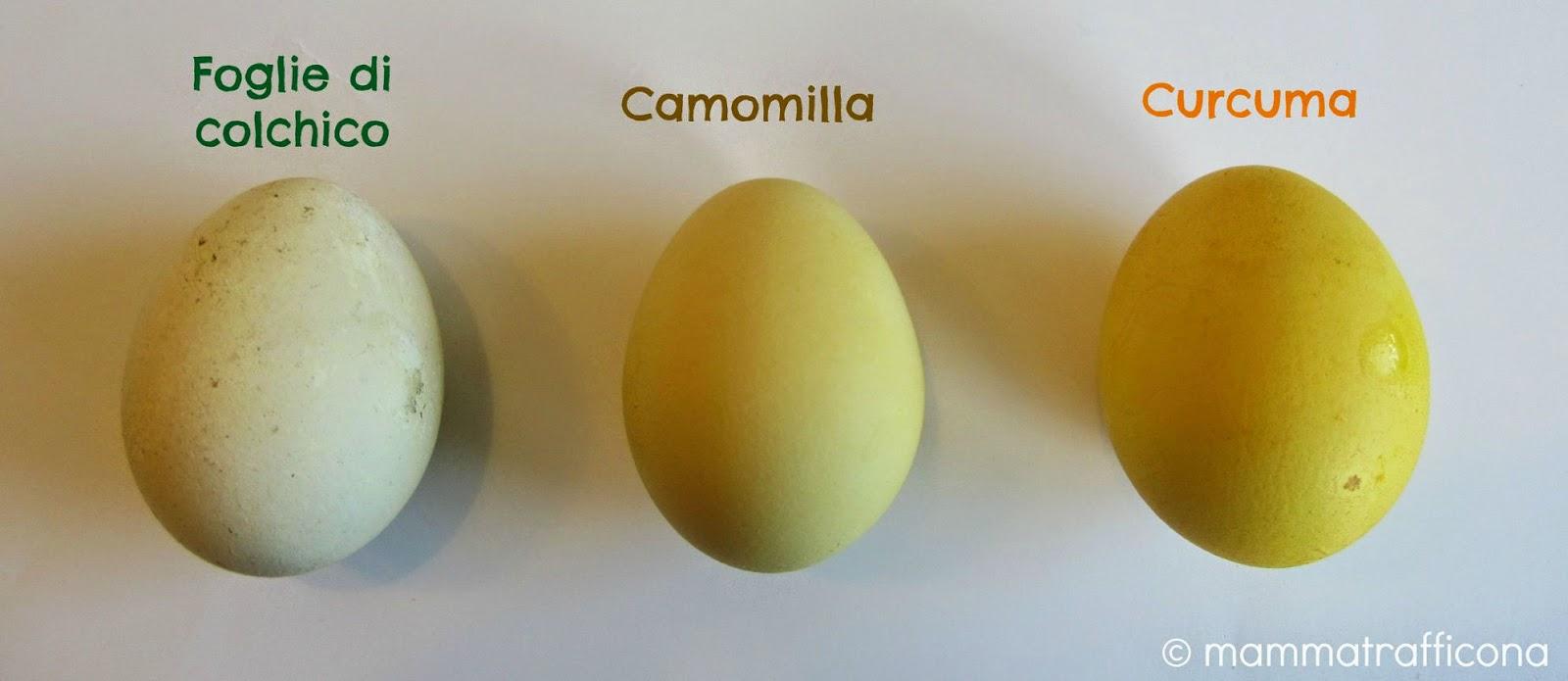 uova con tinture naturali