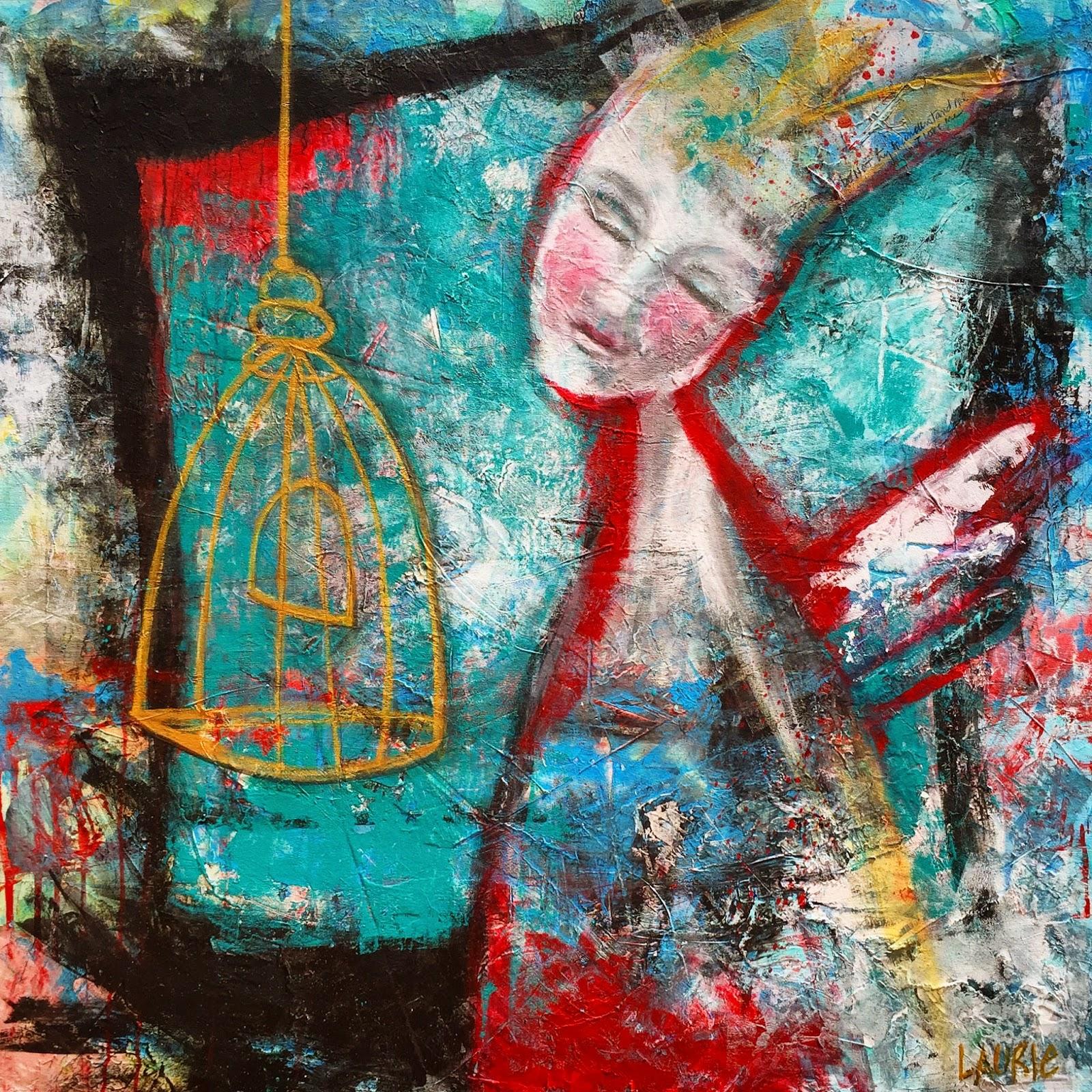 Acrylic Mixed Media Painting
