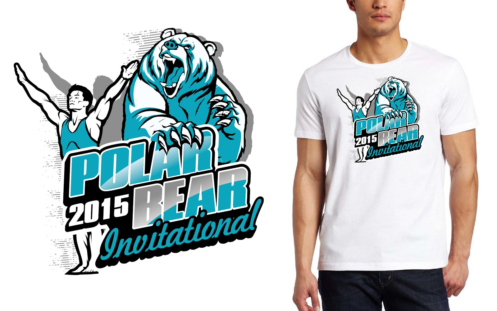 Best Tshirt logo design for mens gymnastics event