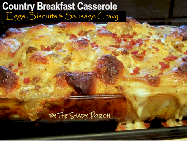 Country Breakfast Casserole #onedish #breakfast #holiday #casserole