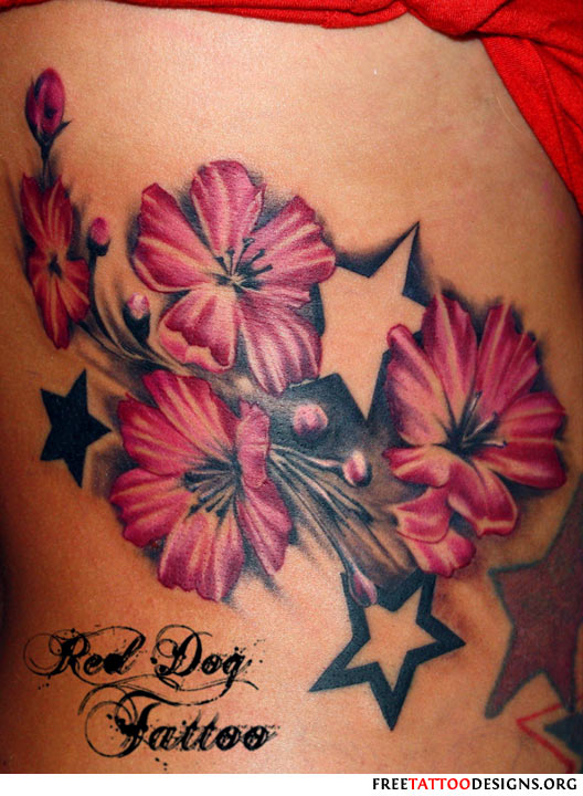 my tattoo designs cherry tattoos with stars