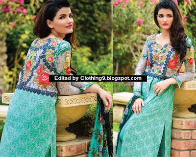 Lakhany - Charlotte Digital Embroidered Eid Dresses