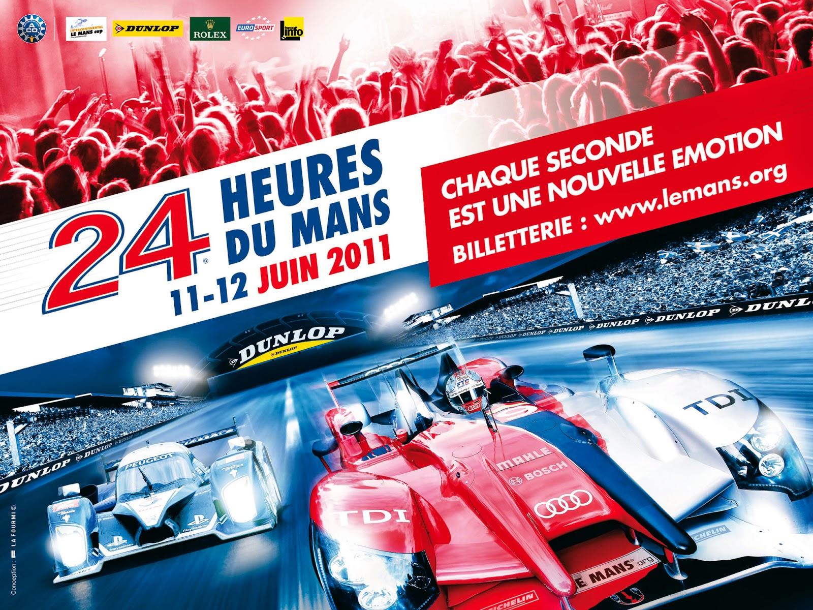Affiche officielle des 24 Heures du Mans 2011