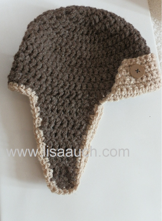 Crochet Newborn Aviator Hat Pattern : Crochet Aviator Hat Free Pattern Baby crochet hats patterns